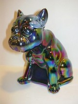 PURPLE SLAG CARNIVAL GLASS HUGE FRENCH BULLDOG ... - $174.12