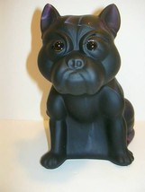 HUGE PURPLE SLAG SATIN GLASS FRENCH BULLDOG PUG... - $169.75