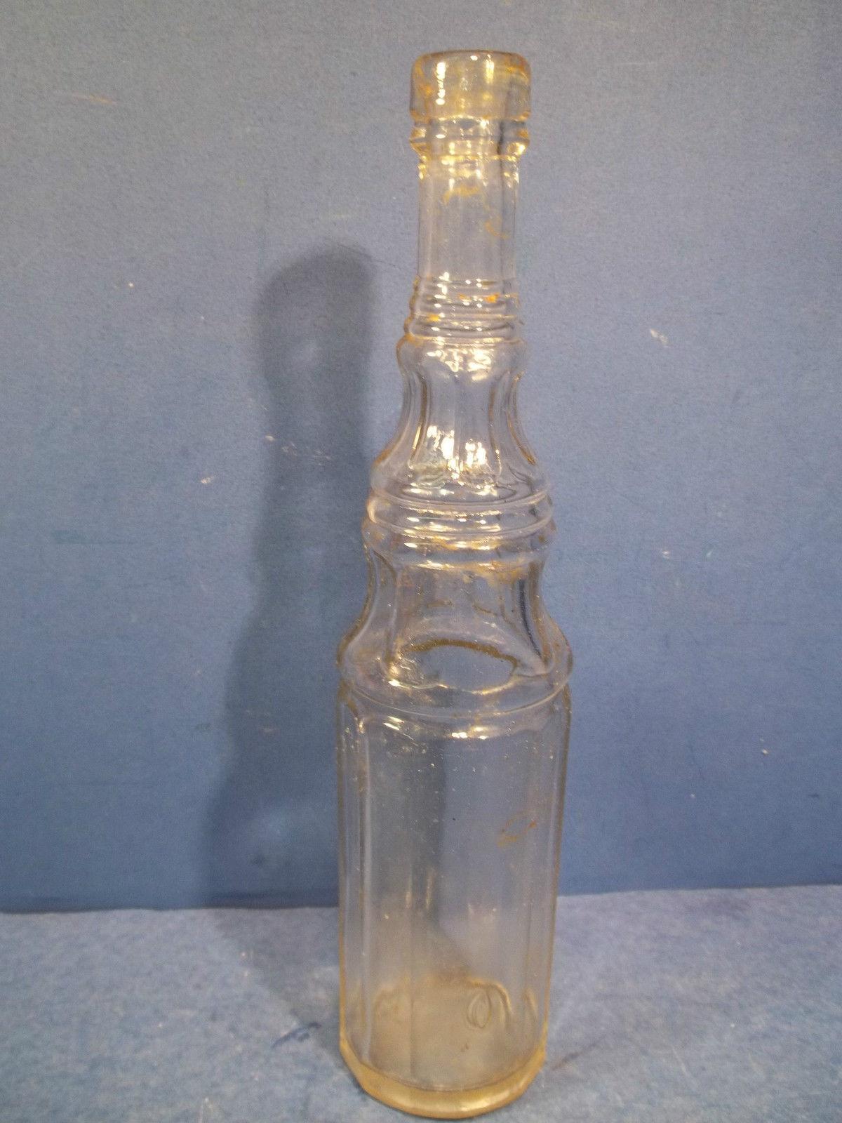 Vintage Clear Glass Champion Amp Slee Vinegar Bottle Food