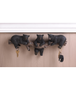Black Bears Key Holder Wall Hooks - $23.00