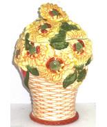 Sunflowers Cookie Jar in a Basket - $14.97
