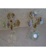 Earrings, Clip Back, Iridescent Dangle Beads, R... - $7.00