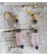 Judy Strobel Magical Carved Rose Quartz Owl Ear... - $26.00