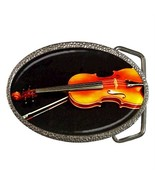 VIOLIN MUSICAL INSTRUMENT ORCHESTRA BELT BUCKLE... - $12.99