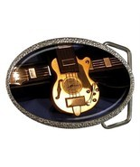 ARTSY GUITAR ROCK BAND BELT BUCKLE CHROME - $12.99