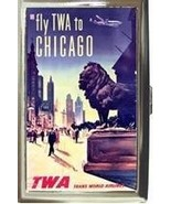 TWA AIRLINES CHICAGO CIGARETTE MONEY CARD CASE ... - $16.99