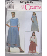 Simplicity 9054 Dress Jumper Skirt Lined Jacket... - $6.00