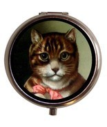 Mr Kitty Cute Kitsch Cat Kitten Pill Box Case - $7.50