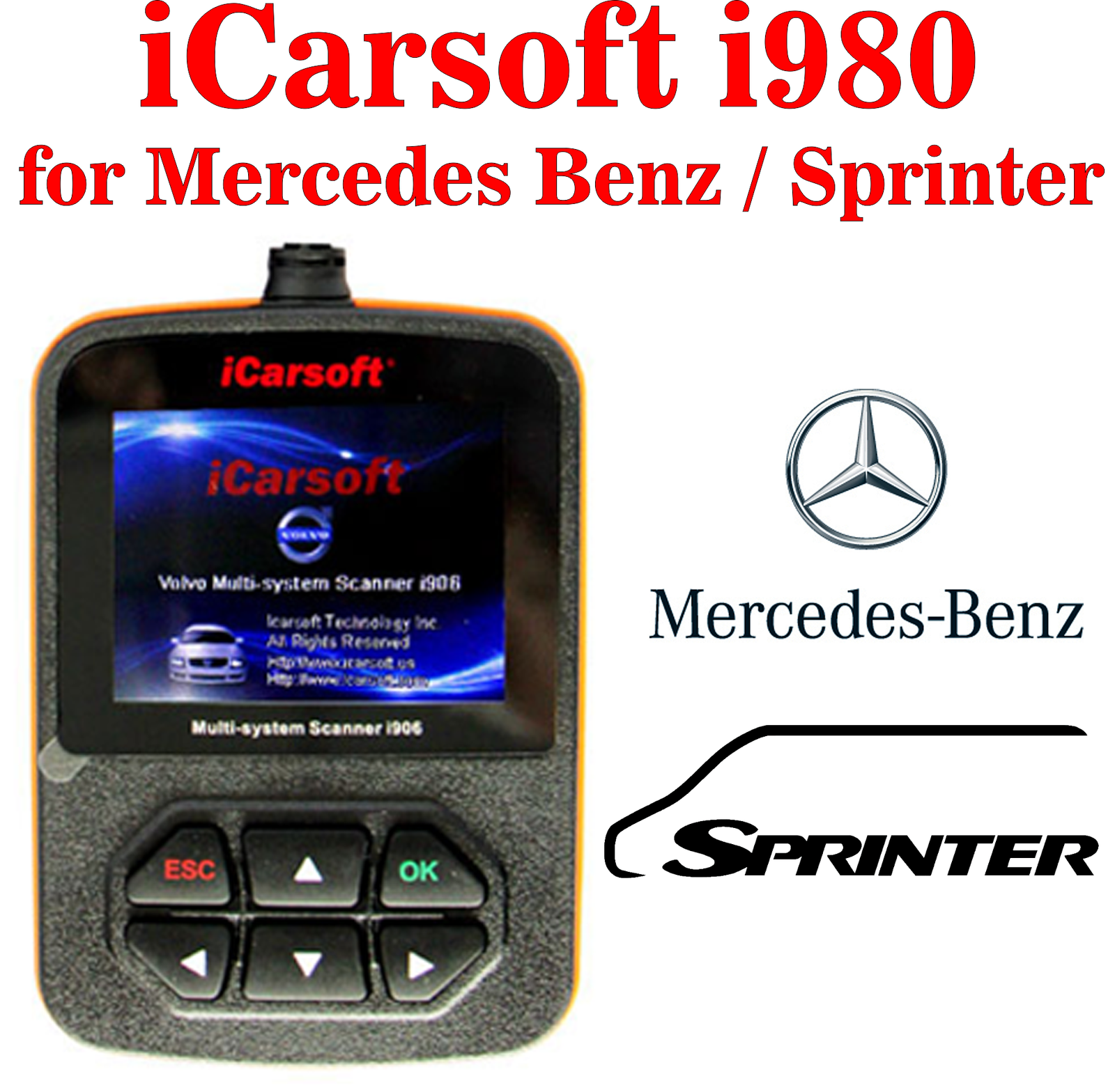Mercedes benz obd2 multi system icarsoft i980 code fault for Mercedes benz scan tool