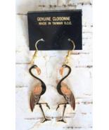 Charming Genuine Cloisonne Enamel Black & Pink ... - $12.95