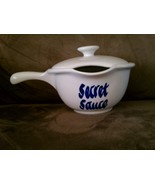 Secret Sauce Bowl Clay Design Gravy Boat - $17.00