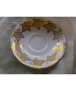 Gold Ivy Leaf Saucer Windsor English Bone China - $4.99