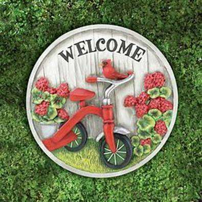 38479 Tricycle Stepping Stone/Plaque~FS