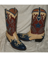 Rocketbuster Custom Made Leather Cowboy Boots 1... - $3,000.00
