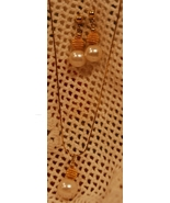 1980s Demi-parure Faux Pearl Earrings & Chain N... - $10.00