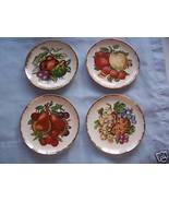4 Fruit Plates w/Gold Edges -6 1/4