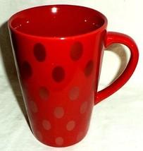 Starbucks Coffee Mug Red Gold Polka Dots 2005 - $14.84