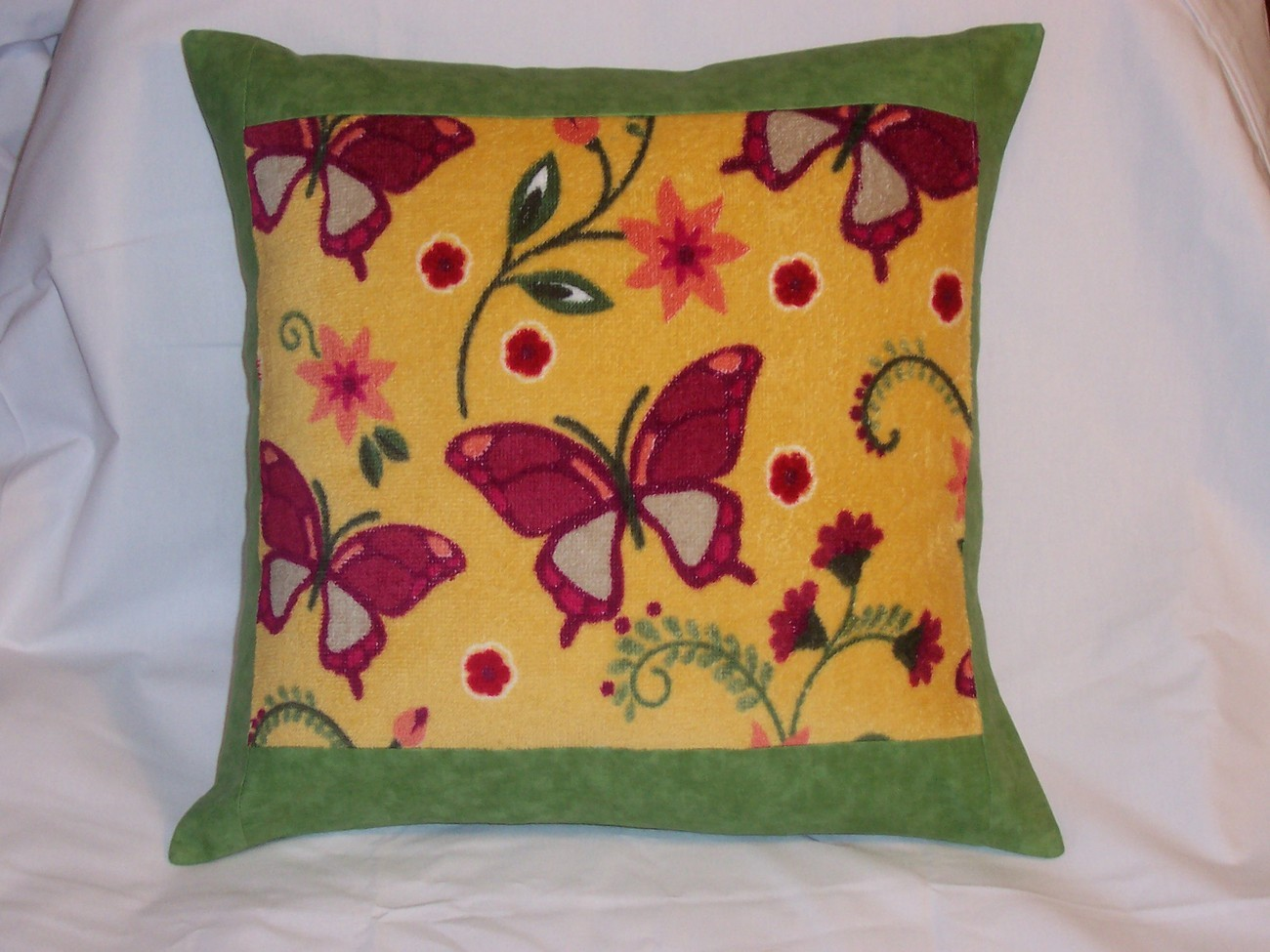 Butterfly Pillow Handmade 14x14