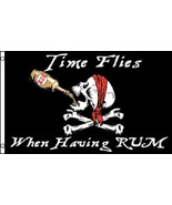 Time Flies When Having Rum Pirate Flag  3 x 5 F... - $7.91
