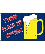 This Bar Is Open Flag 3 x 5 Ft   Beer Mug  Suds... - $7.91