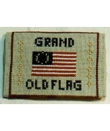 Grand Old Flag Card Case cross stitch kit Brown Dog Stitches