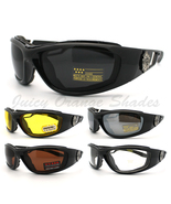 Choppers Biker Goggle Sunglasses Foam Padded Wr... - $11.95