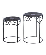 2 Round Top Nesting Tables - $85.00