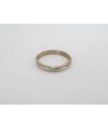 Vintage Sterling Silver Carved Band Ring Size 7.25 - $18.00