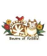 Beware Of Furballs Cat Tshirt  Sizes  White - $5.59 - $9.36