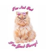 I'm Not Fat, I'm Just Fluffy  Cat Tshirt  Sizes... - $5.59 - $9.36