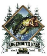 Large Mouth Bass  Fishing  Tshirt    Sizes/Colors - $11.83 - $15.79