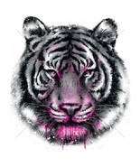 Neon White Tiger  Tshirt    Sizes/Colors - $11.83 - $15.79