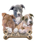 Pit Bull Terrier Pups   Dog Tshirt   Sizes / Co... - $11.83 - $15.79