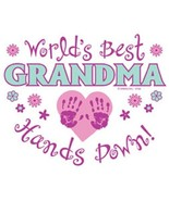 Worlds Best Grandma  Hands Down  Sweatshirt    ... - $19.70 - $27.62