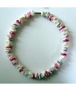 1970s Vintage Hawaiian Puka Shell Chip Necklace... - $9.89