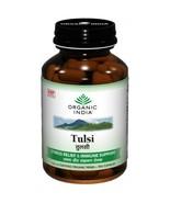 Organic India Tulsi 60 Capsules Bottle Health D... - $10.00