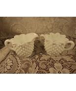 Fenton White Hobnail Milk Glass Star Shaped Cre... - $24.99