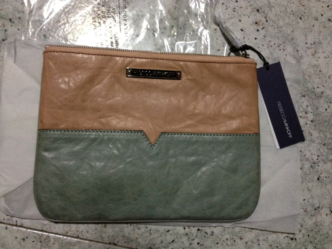 (PRICE DROP) / BNWT Rebecca Minkoff Two-Toned Kerry Pouch