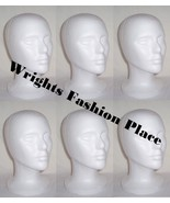 Styrofoam Wig Head Mannequin Hat Craft Display (6) - $32.99
