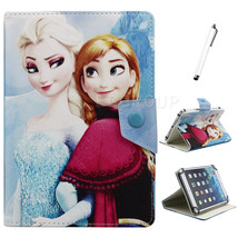 Princess Elsa Anna Leather Case Cover for 7