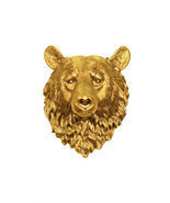 The Honey - Gold Resin Bear Head - Resin White ... - €83,40 EUR