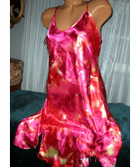 Pink Red Chemise Short Gown 1X 2X Plus Size Adj... - $12.50