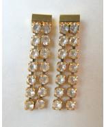 NEW 28 Clear Rhinestone Dangle Drop Earrings Go... - $8.90