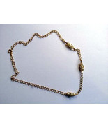 Vintage Avon Beaded Necklace Gold Plate Collect... - $5.00
