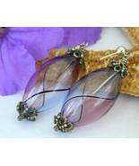 Blown_glass_dangle_earrings_purple_lavender_blue_handmade_pierced_thumbtall