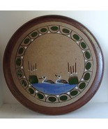 Handcrafted Ducks Cattails Plate Pottery Stonew... - $21.99