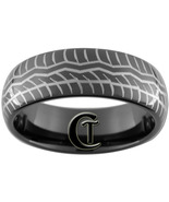 8mm Black Dome Tungsten Carbide Tire Tread Desi... - $49.00