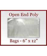 100 Open End Flat Poly Bags 6 x 12 inches USDA ... - $12.98