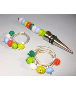 Handcrafted Lampwork Pastel Colors Wine Stopper... - $50.00