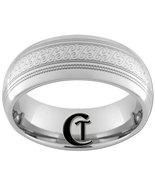 8mm Dome Tungsten Carbide Laser Design Ring Siz... - $49.00